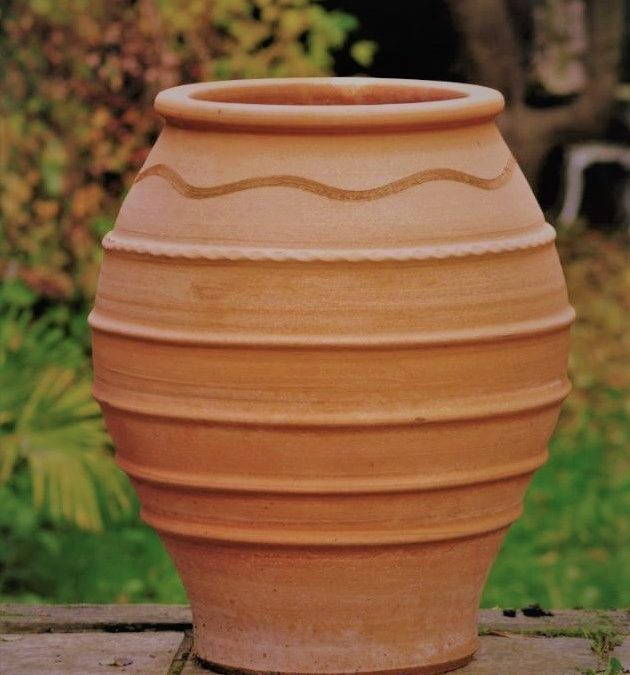 TEMPORARILY OUT OF STOCK – KORONIOS Cretan Terracotta Pot Planter from Northern Crete – Medium 48cm X 38cm – Handmade – £95.00
