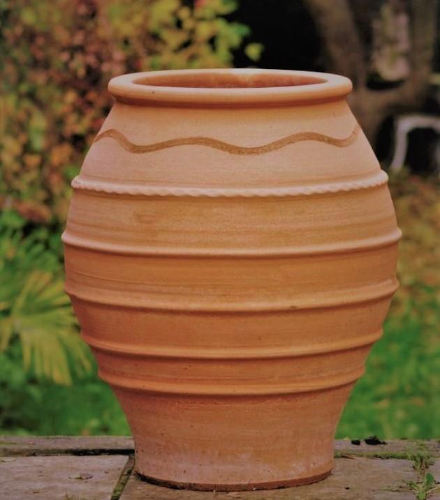 TEMPORARILY OUT OF STOCK – KORONIOS Cretan Terracotta Pot Planter from Northern Crete – Medium 48cm X 38cm – Handmade – £95.00
