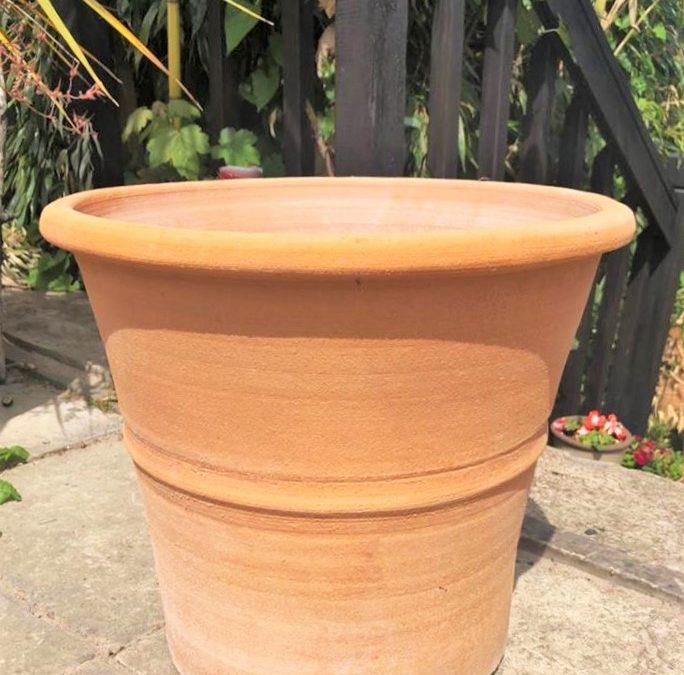 MONAHOU Cretan Terracotta Pot Planter from Northern Crete – Medium 40cm X 40cm – Handmade – £65.00