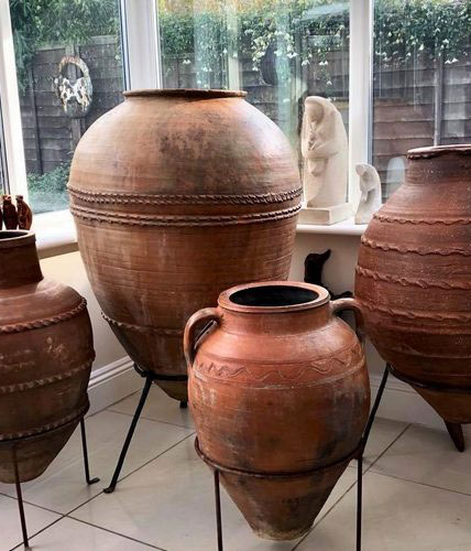 Antique Olive & Storage Pots