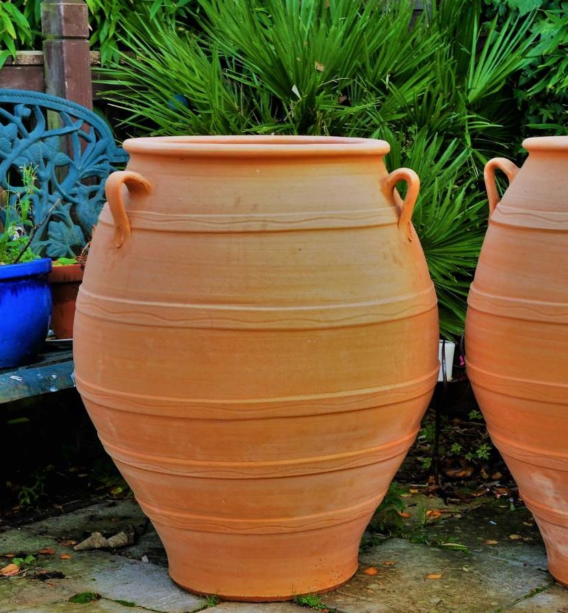 TEMPORARILY OUT OF STOCK – Bala Terracotta Pot Planter from Northern Crete – Extra Large – Handmade – £450