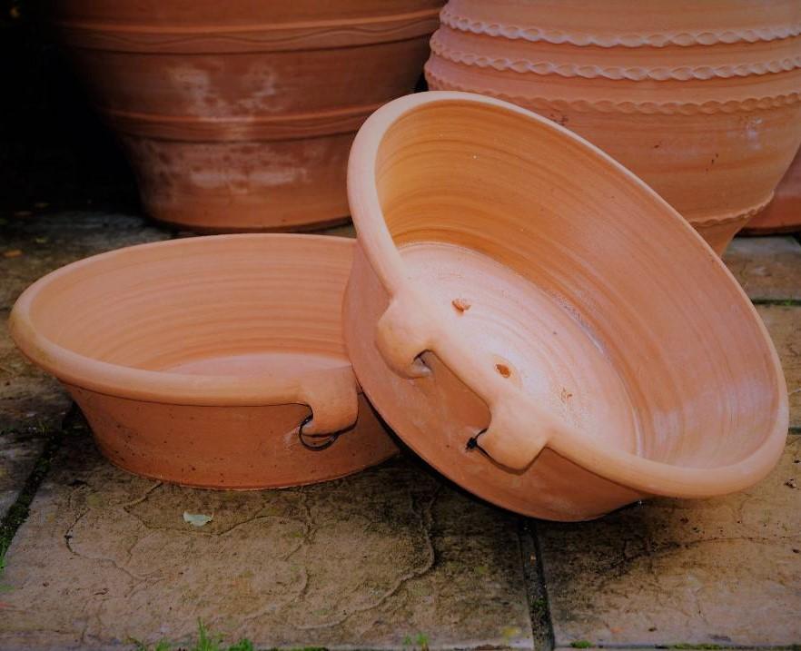 LEKANIDA Round Terracotta Alpine Planter from Northern Crete – 17cm X 51cm – Handmade – £50