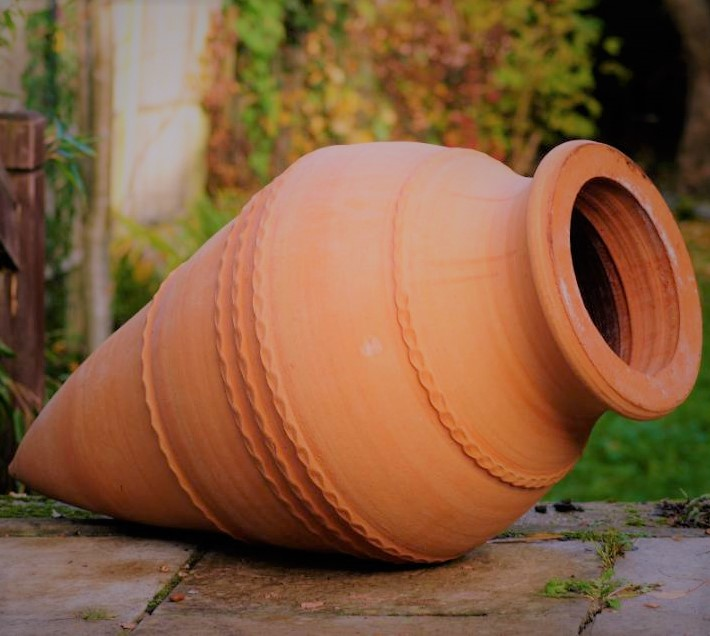 TEMPORARILY OUT OF STOCK – KONIKO Feature Pot – Terracotta Pot Planter from Northern Crete – Large 87cm X 40cm – Handmade – £175.00