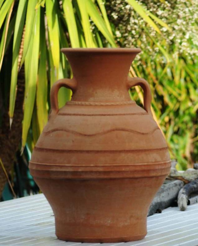 MISTATO Cretan Water Carrier Terracotta Pot Planter from Northern Crete – 50cm X 33cm – Handmade – £85