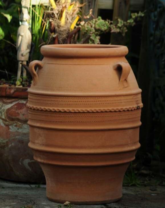 KNOSSOS Cretian Terracotta Pot Planter from Northern Crete – Medium 53cm X 37cm – Handmade – £95