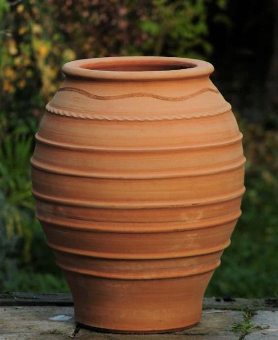 TEMPORARILY OUT OF STOCK – KORONIOS Terracotta Pot Planter from Northern Crete – Very Large 74cm X 55cm – Handmade – £395.00