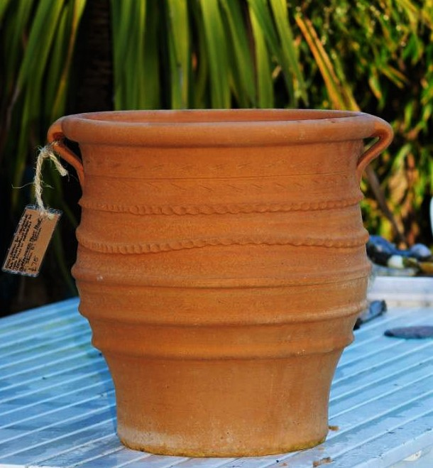FOTIS Cretan Terracotta Pot Planter from Northern Crete – 38cm x 35cm – Handmade – £65.00