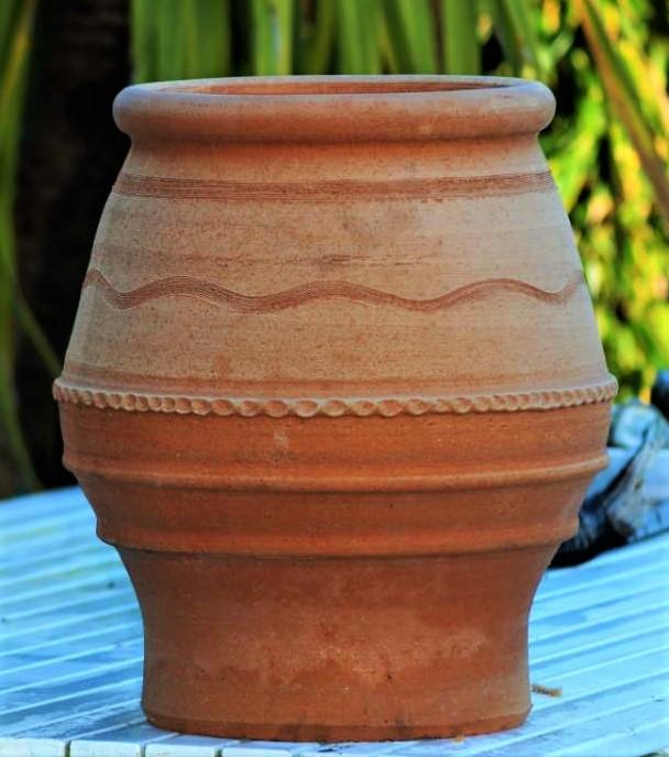 TEMPORARILY OUT OF STOCK – KORONIOS Cretan Terracotta Pot Planter from Northern Crete – Small 40cm X 33cm – Handmade – £65.00
