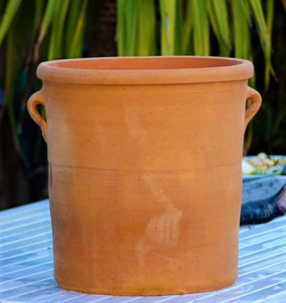 SOLINA Cretan Terracotta Pot Planter from Northern Crete – Medium 40cm X 40cm – Traditionally Made – £65.00