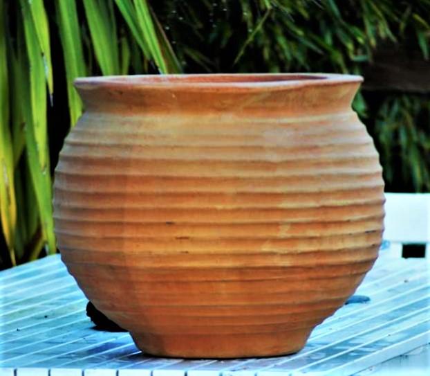 SFAIRA Cretan Terracotta Pot Planter from Northern Crete – Medium 33cm X 33cm – Handmade – £75.00