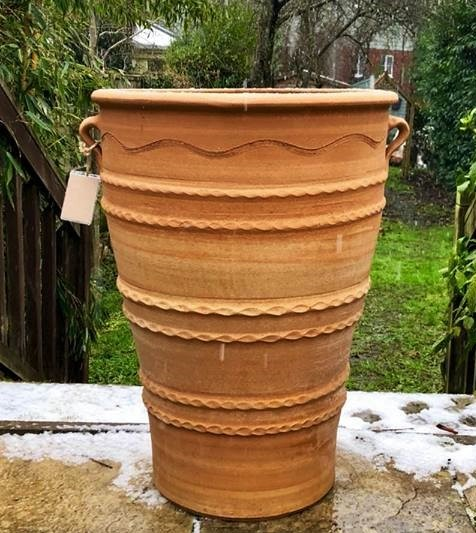 TEMPORARILY OUT OF STOCK – VONI Cretan Terracotta Pot Planter from Northern Crete – Very Large 71cm X 52cm – Handmade – £275.00