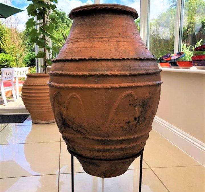 Antique Grain Storage Pot from the Aegean Sea Region of Turkey – Rare Ornate Decoration – £495