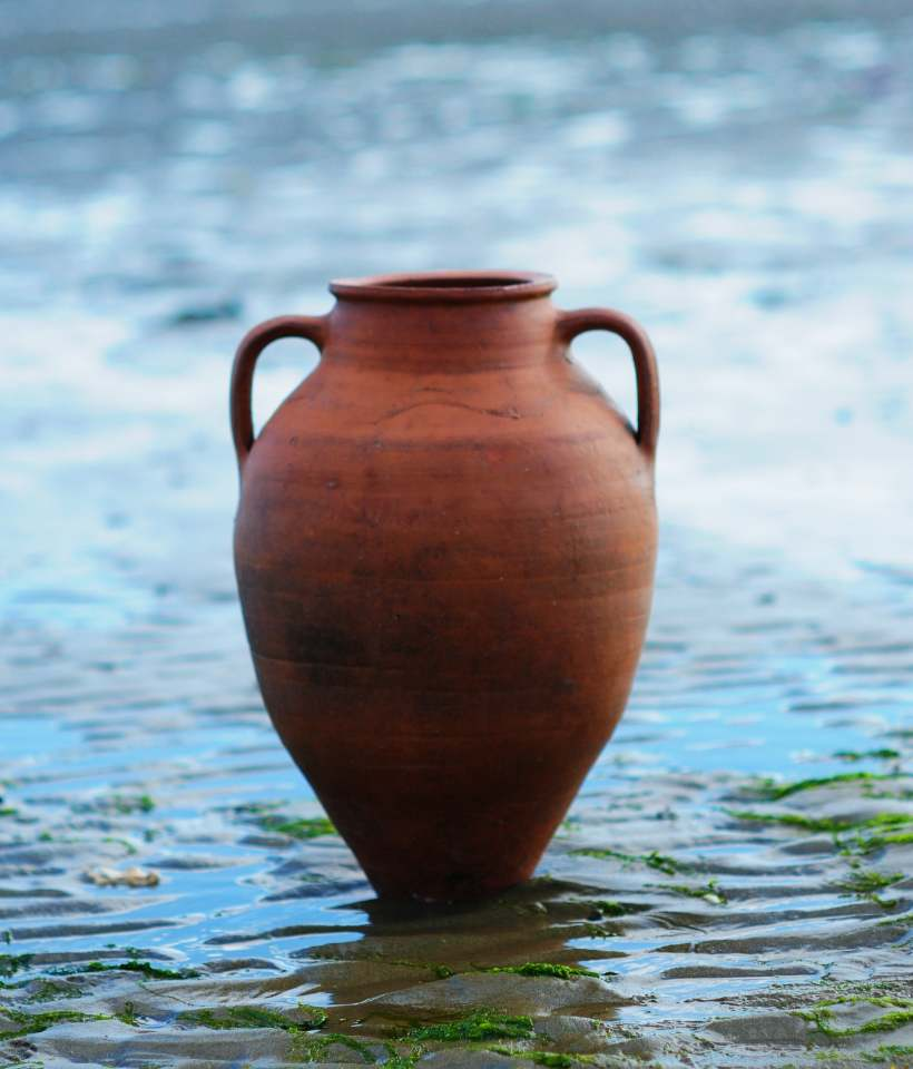 SORRY, NOW SOLD – Antique Olive Oil/Water Pot Jar from Inland Turkey – £140