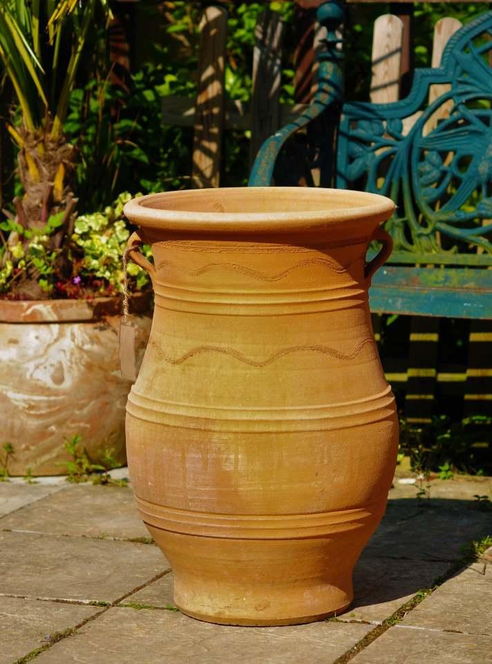 TEMPORARILY OUT OF STOCK – BOGIAT Cretan Terracotta Pot Planter from Northern Crete – Handmade 66cm X 43cm – Large – £195.00