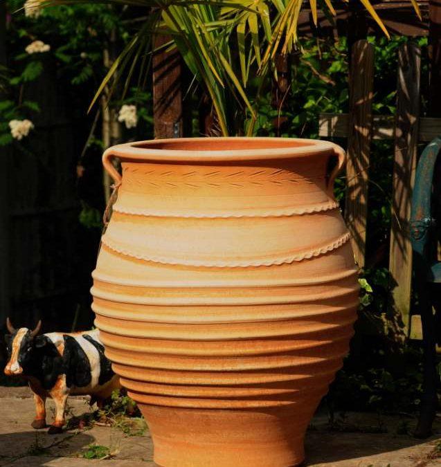 TEMPORARILY OUT OF STOCK – FOTIS Cretan Terracotta Pot Planter from Northern Crete – Handmade – Extra Large 73cm X 58cm – £275.00