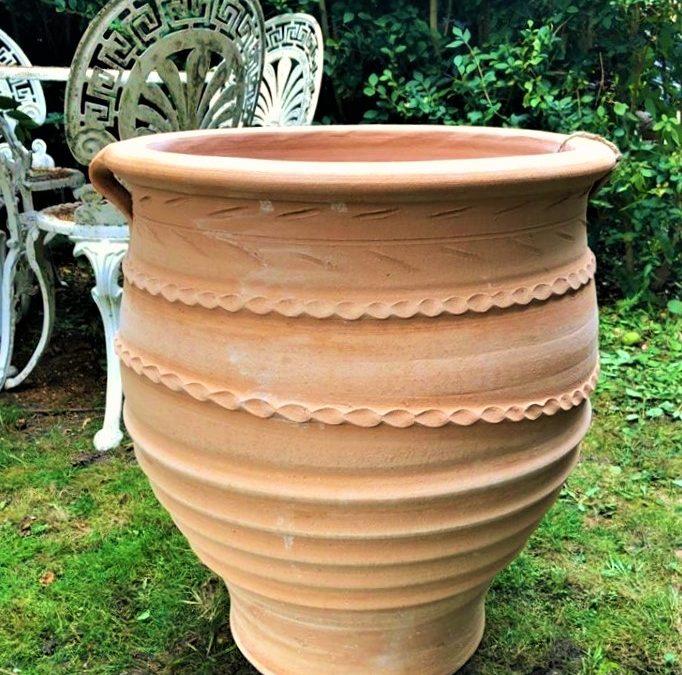 FOTIS Cretan Terracotta Pot Planter from Northern Crete – Handmade – Large 57cm X 53cm – £195.00