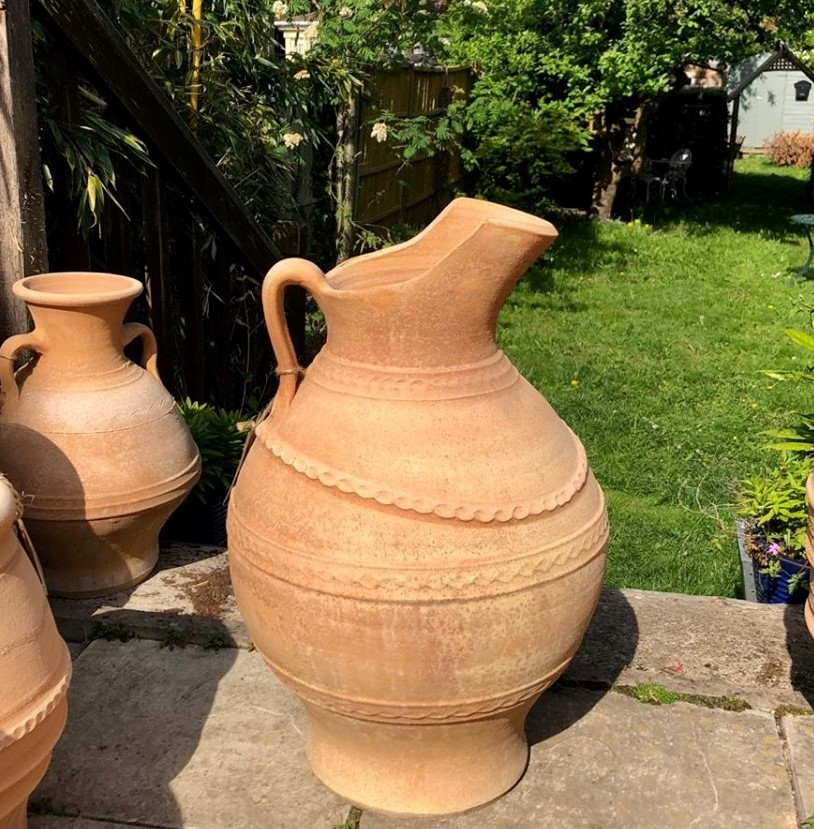 TEMPORARILY OUT OF STOCK – Greek Water Carrier Planter Large Feature Jar 64cm X 37cm – Handmade – £195.00