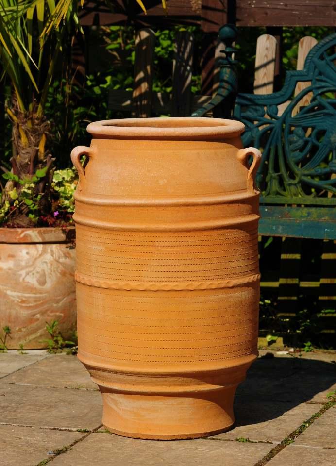 KNOSSOS Cretian Terracotta Pot Planter from Northern Crete – Large 73cm X 43cm – Handmade – £195