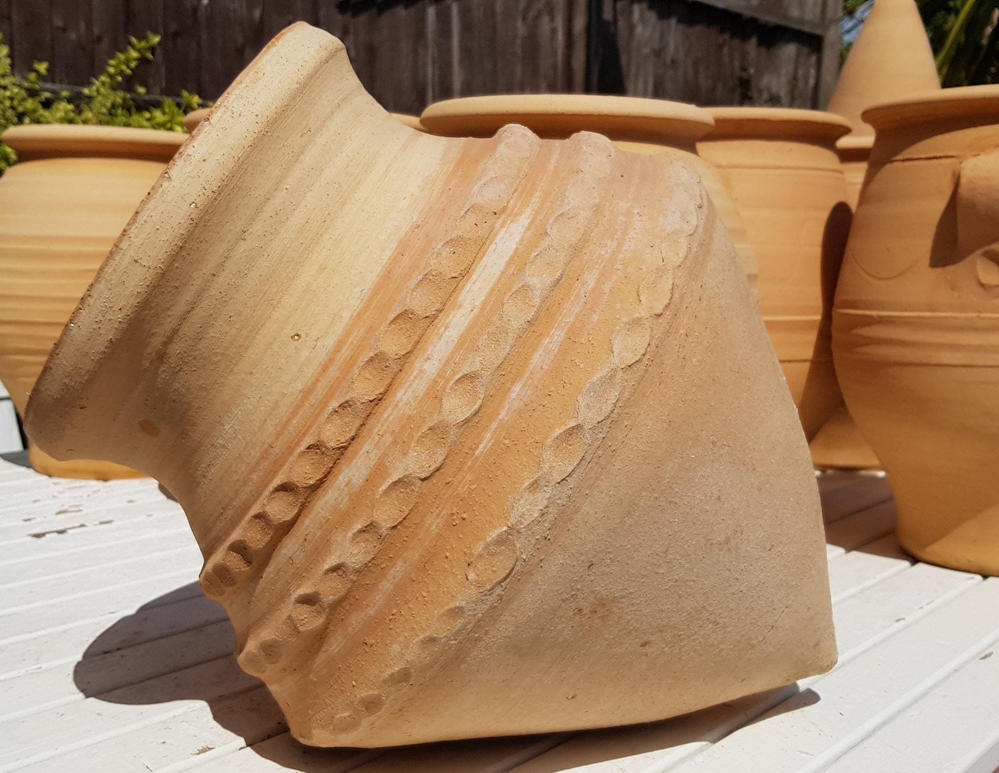 KONIKO Feature Pot – Terracotta Pot Planter from Northern Crete – Small 40cm X 28cm – Handmade – £85