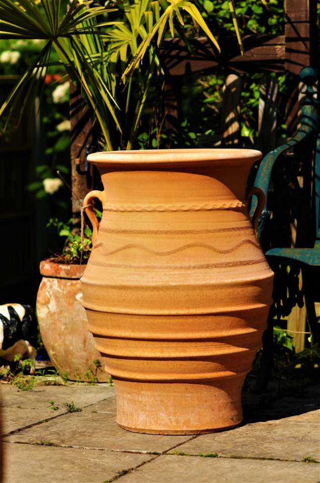 TEMPORARILY OUT OF STOCK – VAZO Cretan Terracotta Pot Planter from Northern Crete – Handmade – Extra Large 70cm X 49cm – £275.00