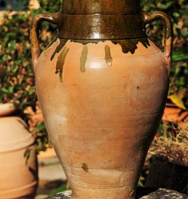 Vintage Olive Oil/Water Jar from Inland Turkey – Glazed Interior – £65