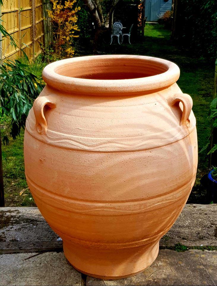BALA Cretan Terracotta Pot Planter from Northern Crete – Medium 50cm X 45cm – Handmade – £95.00