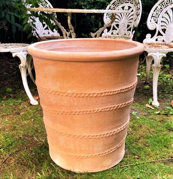 FIDATI Cretan Terracotta Pot Planter from Northern Crete – Medium 50cm X 48cm – Handmade – £95.00