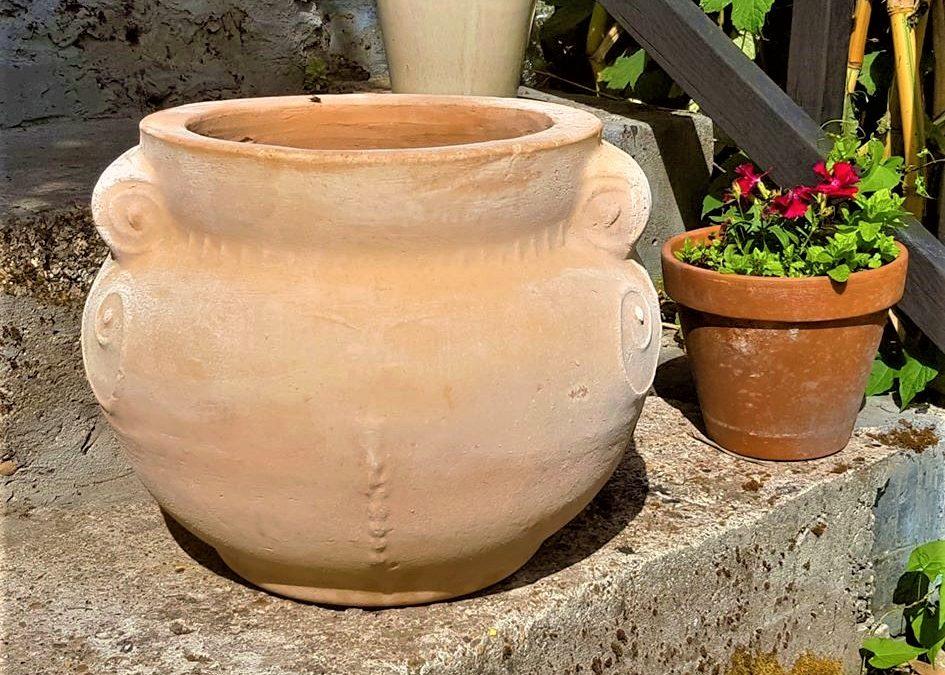 KRITI Cretan Terracotta Pot Planter – Handmade in Crete – Medium 35cm X 40cm – £80.00