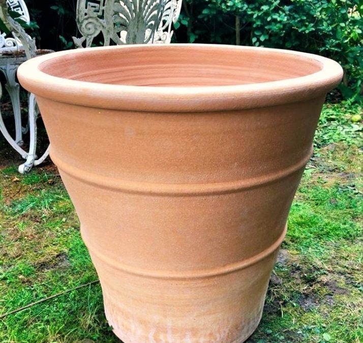 MONAHOU Cretan Terracotta Pot Planter from Northern Crete – X Large 60cm X 65cm – Handmade – £195.00