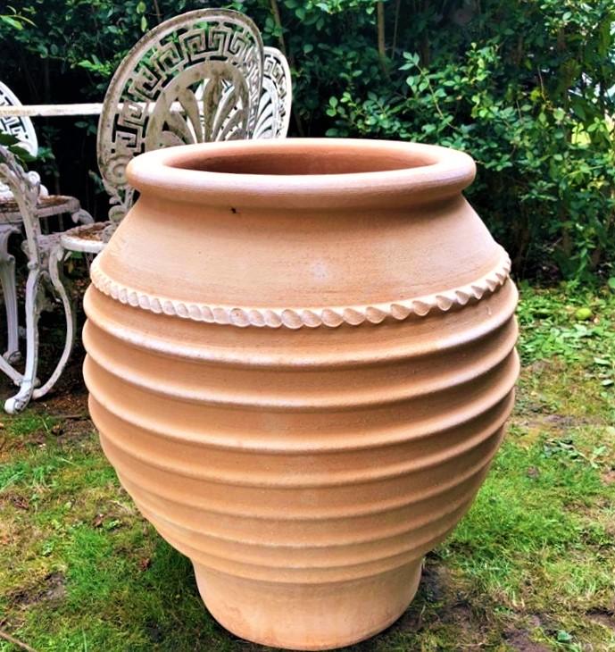 TZARA Cretan Terracotta Pot Planter from Northern Crete – Large 57cm X 47cm – Handmade – £195.00