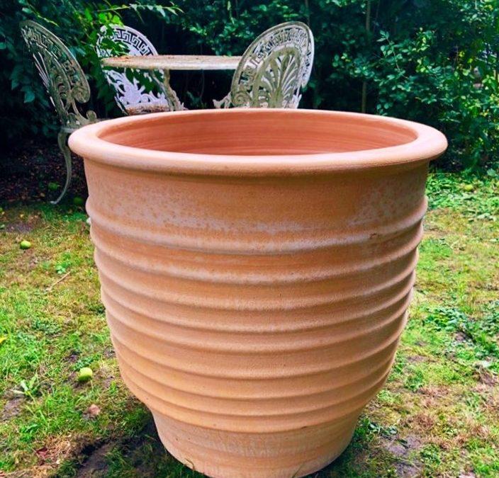 ZONARATI Cretan Terracotta Pot Planter from Northern Crete – X Large 62cm X 62cm – Handmade – £195.00