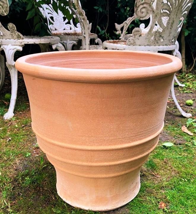 ZONARATI Cretan Terracotta Pot Planter from Northern Crete – Medium 40cm X 40cm – £65.00