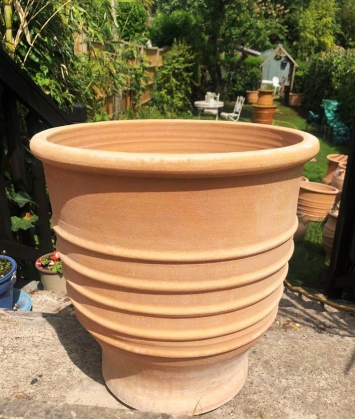 ZONARATI Cretan Terracotta Pot Planter from Northern Crete – Large 50cm X 50cm – Handmade – £95.00