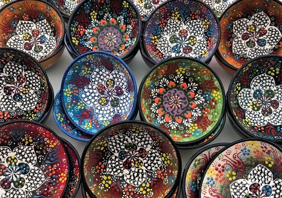 Turkish Ottoman Handmade & Hand Painted Ceramic Bowl 12cm diameter – £8.00