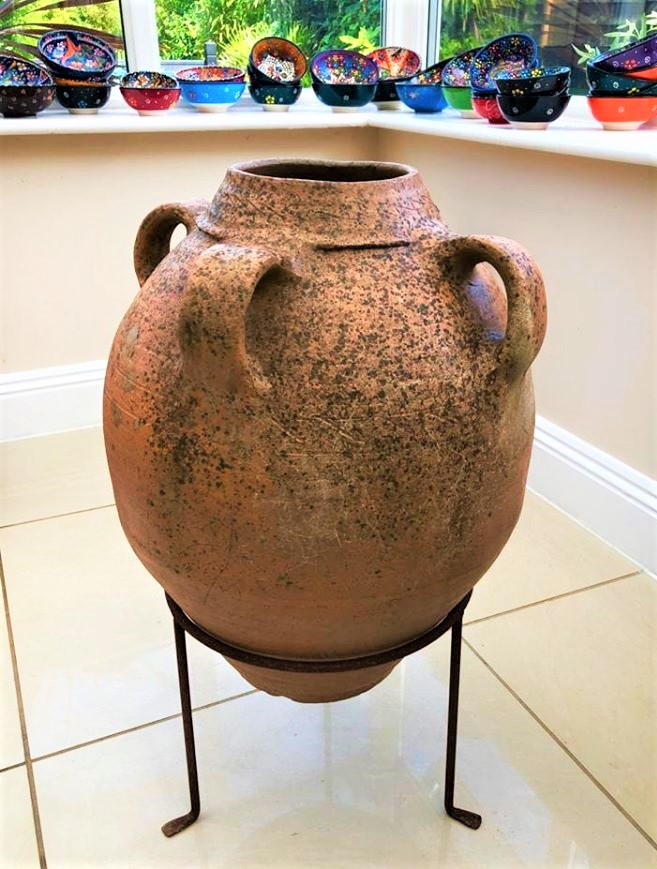 Antique Water/Wine Storage Pot with 4 Handles from the Inland Region of Turkey – £295
