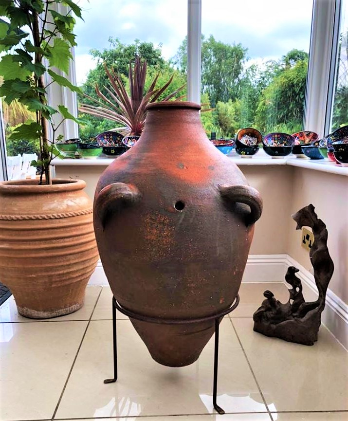Antique Wine Storage Jar/Pot from the Black Sea Region of Turkey – Rare with Beautiful Patina – Extra Large – £425