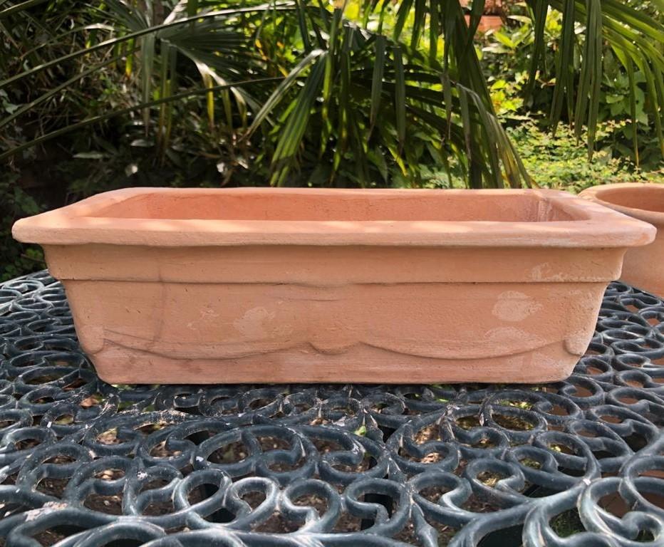 ZARDINIERAKI Cretan Rectangular Pot Planter from Northern Crete – Medium 41cm X 19cm X 12cm – £30.00